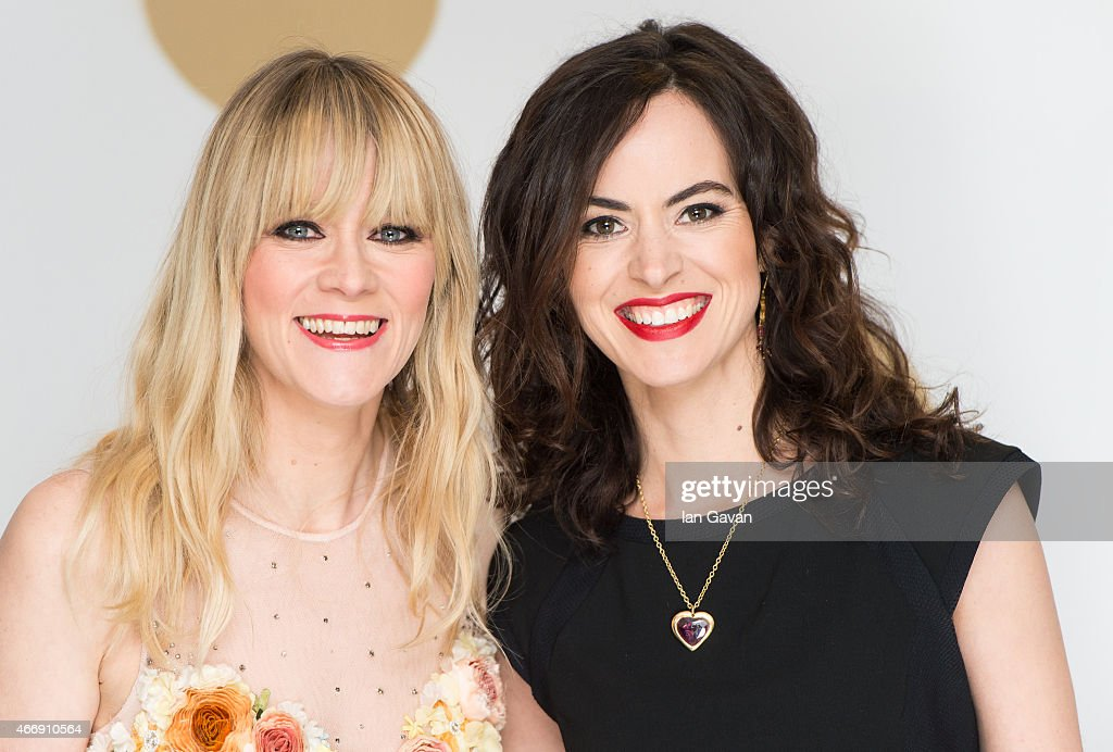 Edith Bowman and Sally Wood attend The Roundhouse Gala at The Roundhouse on March 19, 2015 in London, England.