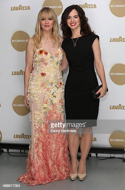 Edith Bowman and Sally Wood attend The Roundhouse Gala at The Roundhouse on March 19 2015 in London England