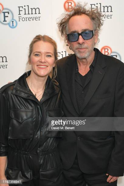 Edith Bowman and Tim Burton attend the 'Soundtracking With Tim Burton' QA at BFI Southbank on December 06 2019 in London England
