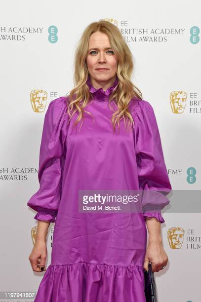 Edith Bowman arrives at the EE British Academy Film Awards 2020 Nominees' Party at Kensington Palace on February 1 2020 in London England
