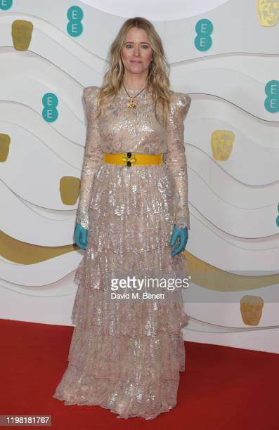 Edith Bowman arrives at the EE British Academy Film Awards 2020 at Royal Albert Hall on February 2 2020 in London England