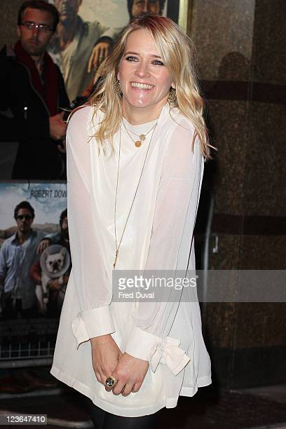 Edith Bowman arrives at the European premiere of 'Due Date' at Empire Leicester Square on November 3 2010 in London England