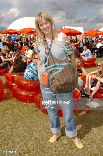 Edith Bowman at the Virgin Mobile Louder Lounge V Festival