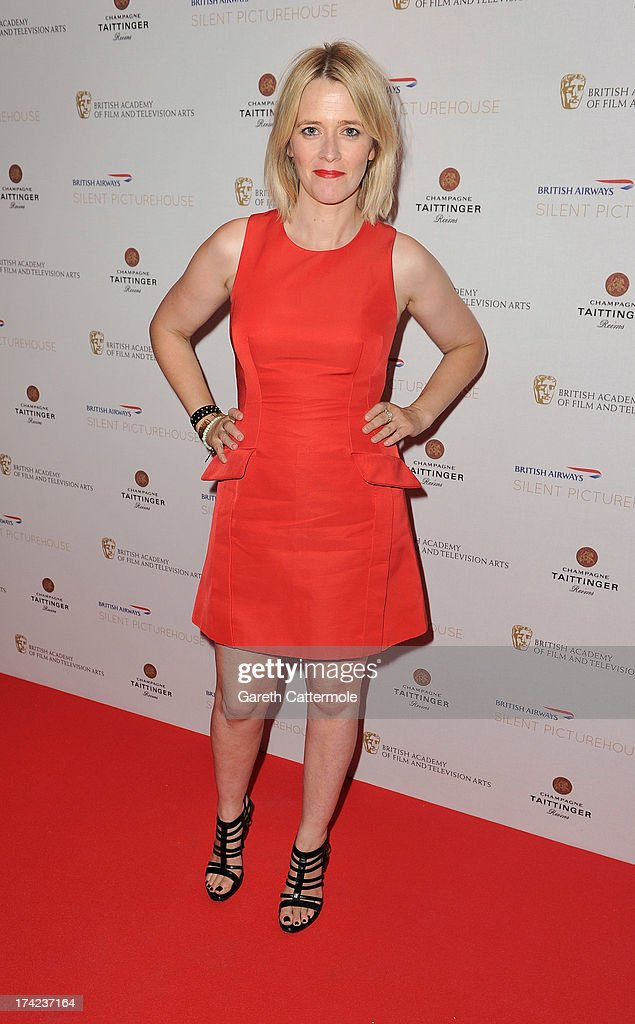 Edith Bowman attends the British Airways Silent Picturehouse launch at Vinopolis on July 22, 2013 in London, England.The pop-up film event shows movies that inspire travel.