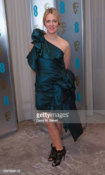Edith Bowman attends the EE British Academy Film Awards gala dinner at The Grosvenor House Hotel on February 10 2019 in London England