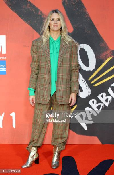 """Edith Bowman attends the """"JoJo Rabbit"""" European Premiere during the 63rd BFI London Film Festival at the Odeon Luxe Leicester Square on October 05,..."""