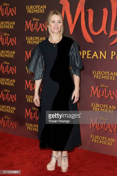 Edith Bowman attends the Mulan European Premiere at Odeon Luxe Leicester Square on March 12 2020 in London England