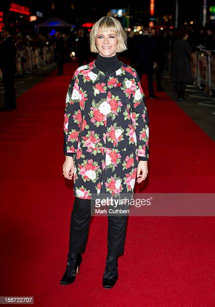 """Edith Bowman attends the World Premiere of """"Gambit"""" at Empire Leicester Square on November 7, 2012 in London, England."""