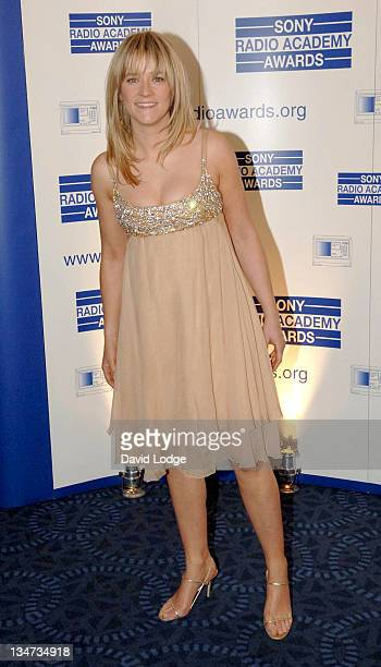 Edith Bowman during 2005 Sony Radio Academy Awards Arrivals at Grosvenor House Hotel in London Great Britain