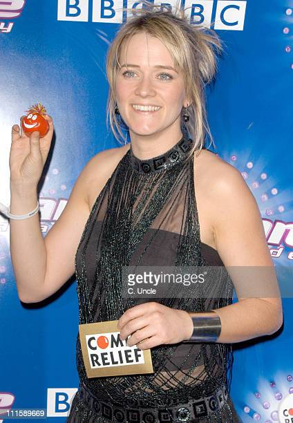 Edith Bowman during Comic Relief Does Fame Academy 2005 Grand Finale at BBC Television Centre in London Great Britain