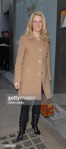 Edith Bowman during Edith Bowman Sighting at Nobu March 27 2007 at Nobu in London Great Britain