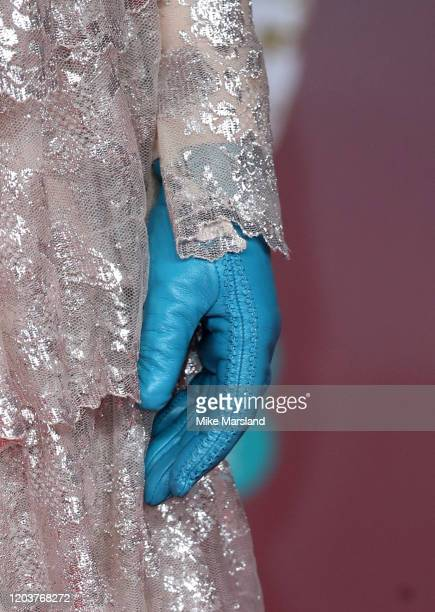 Edith Bowman glove detail attends the EE British Academy Film Awards 2020 at Royal Albert Hall on February 02 2020 in London England