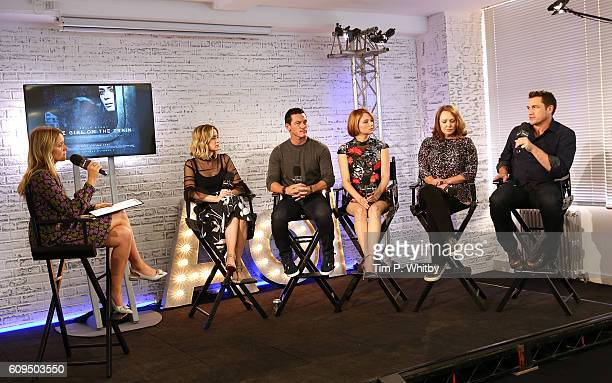 Edith Bowman interviews actors Emily Blunt Luke Evans Hayley Bennett writer Paula Hawkins and director Tate Taylor for AOL's BUILD series LONDON at...
