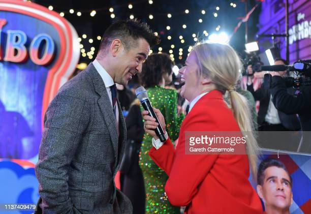 Edith Bowman interviews Colin Farrell at the European Premiere of Disney's Dumbo at The Curzon Mayfair on March 21 2019 in London England