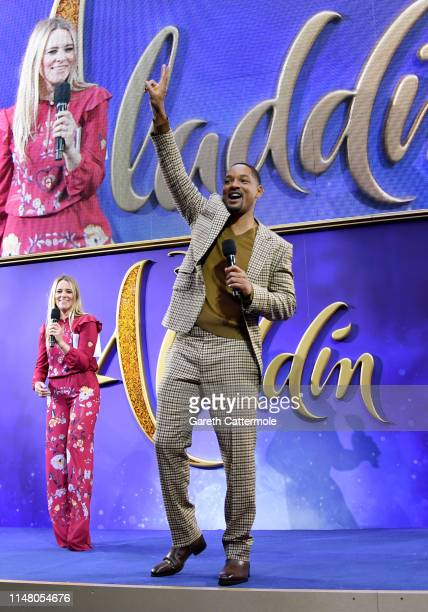 Edith Bowman interviews Will Smith at the European Gala Screening of Disney's Aladdin at Odeon Leicester Square on May 09 2019 in London England