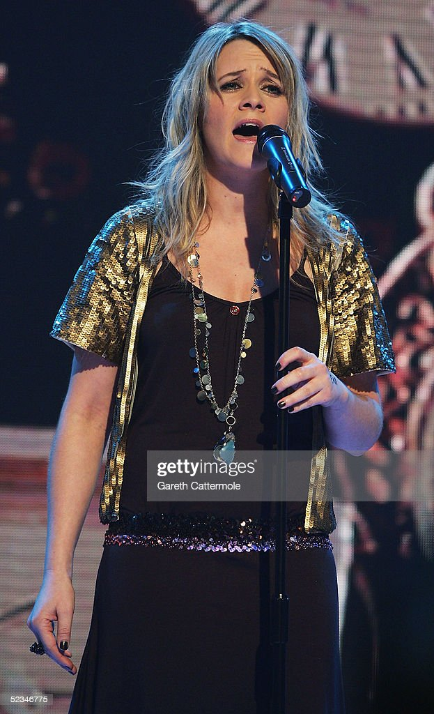 Edith Bowman performs at the ninth eviction show for 'Comic Relief Does Fame Academy' at Lambeth College on March 9, 2005 in London. The new series sees 13 celebrities go head to head in the ultimate celebrity singing competition, with the grand final announcing the winner on March 11, Red Nose Day 2005.