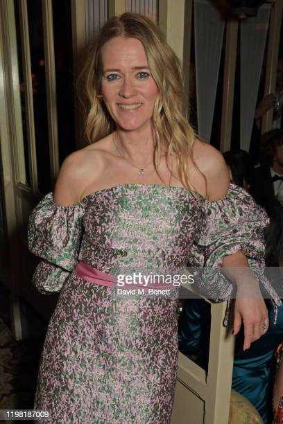 Edith Bowman poses the Netflix BAFTA after party at Chiltern Firehouse on February 2 2020 in London England