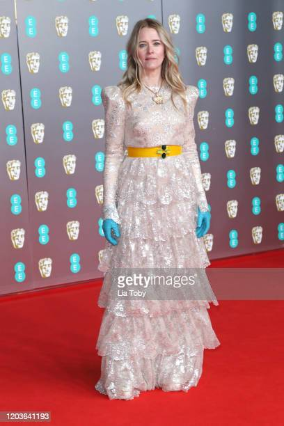 Edith Bowmnan attends the EE British Academy Film Awards 2020 at Royal Albert Hall on February 02 2020 in London England