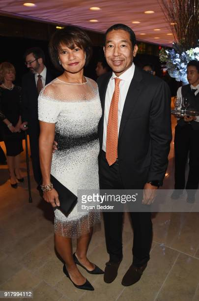 Edith Cooper and Robert Taylor attend the Winter Gala at Lincoln Center at Alice Tully Hall on February 13 2018 in New York City
