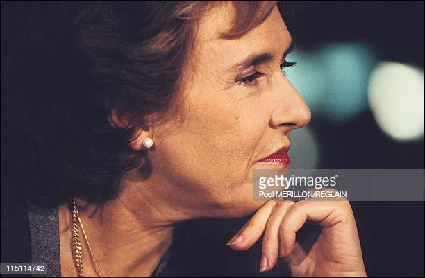 Edith Cresson at TF1 tv channel in Paris France on October 24 1991