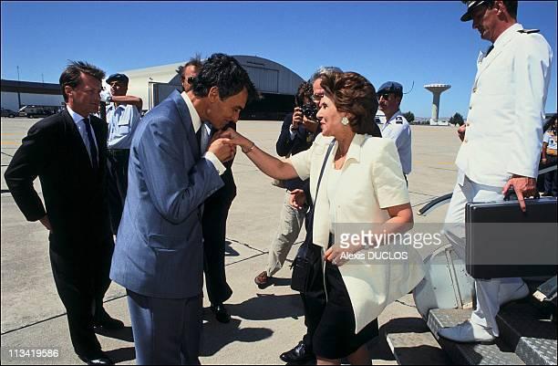 Edith Cresson In PortugalOn Jully 25th 1991