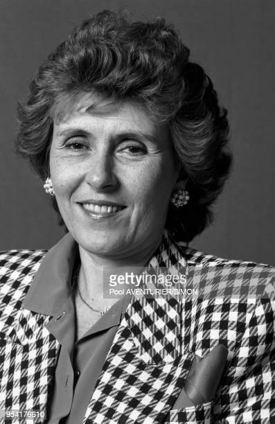 Edith Cresson lors du congrès du parti socialiste à Lille le 5 avril 1987 France
