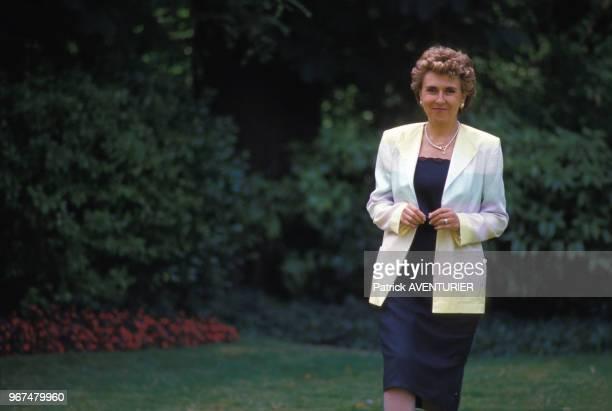 Edith Cresson ministre de l'industrie le 23 juillet 1984 à Paris France