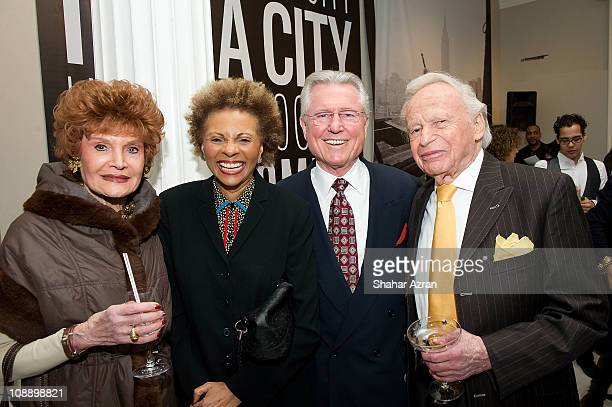Edith Drake Leslie Uggams Grahame Pratt and composer Ervin Drake at the Ain't Nothing Like The Real Thing How The Apollo Theater Shaped American...