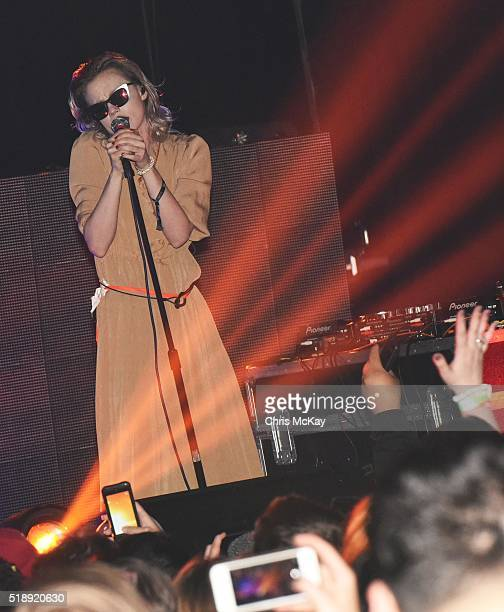 Edith Frances of Crystal Castles performs at Georgia Theatre during the 2016 Slingshot Festival on April 2 2016 in Athens Georgia