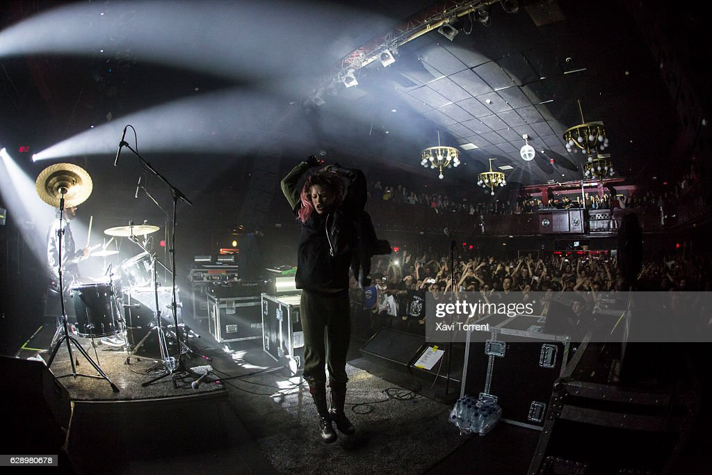 Crystal Castles Perform in Concert in Barcelona