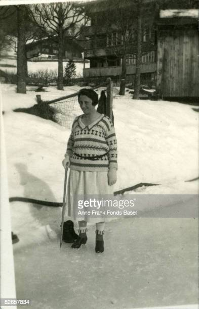 Edith FrankHollander the mother of Anne Frank during a holiday in Switzerland circa 1925