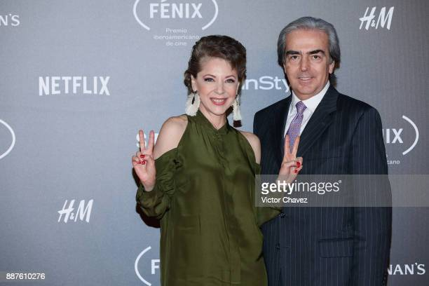 Edith Gonzalez and Lorenzo Lazo attend the Premio Iberoamericano De Cine Fenix 2017 at Teatro de La Ciudad on December 6 2017 in Mexico City Mexico