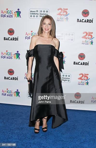 Edith Gonzalez attends Amigos For Kids Annual Fundraiser 2016 Miami Celebrity Domino Night at Jungle Island on June 18 2016 in Miami Florida