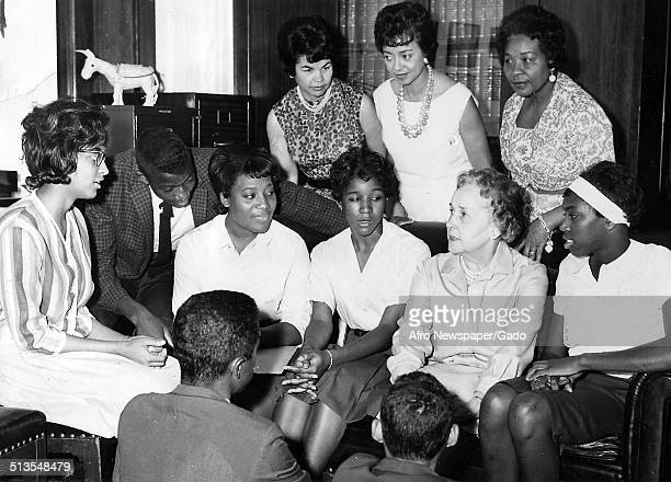 Edith Greene and members of the Delta Sigma Theta sorority at Howard University Washington DC 1960