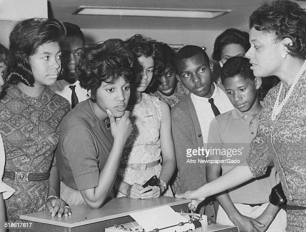 Edith Greene and members of the Delta Sigma Theta sorority at Howard University Washington DC July 13 1963