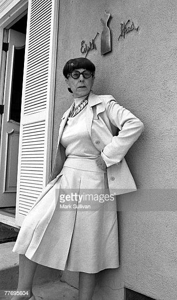Edith Head outside her Universal Studios office in Universal City CA June 23 1975 Various Locations Mark Sullivan 70's Rock Archive Universal City CA