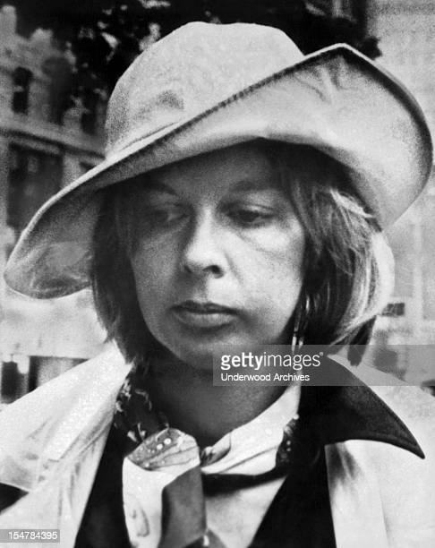 Edith Irving enters the US Court House to begin serving her two year sentence in connection with the Howard Hughes book hoax New York New York June...