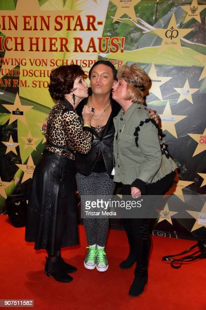 Edith Leyrer Julian F M Stoeckel and Stefanie Simon during the Public Viewing Of the TV Show 'Ich bin ein Star Holt mich hier raus' on January 19...