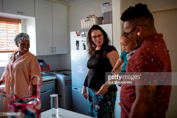 Edith Ndodana who works for the family Cheryl Camden and Mpho Mojapelo in their home in Johannesburg on March 7 2019 Less than 40 years ago Mpho...