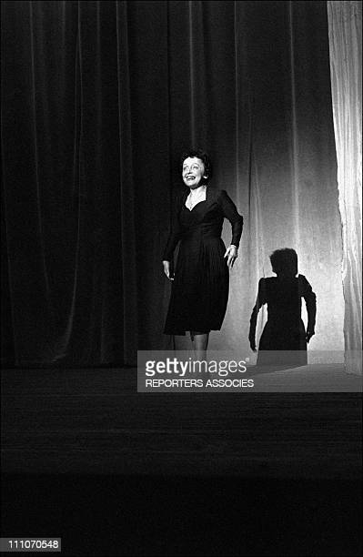 Edith Paf on stage in Reims France on June 16 1962