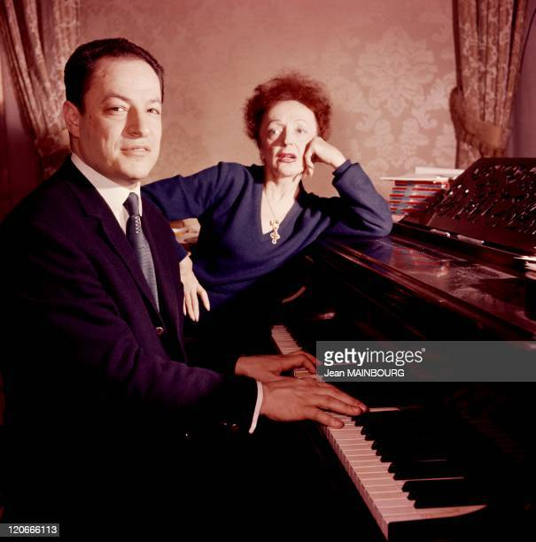 Edith Piaf and composer Charles Dumont in France