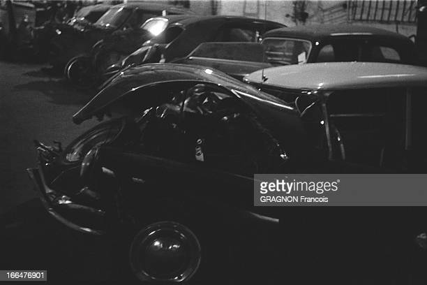 Edith Piaf And Marcel Cerdan Junior Victims Of A Car Accident La voiture accidentée de la chanteuse Edith PIAF