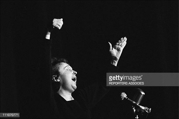 Edith Piaf at the Olympia in Paris France on February 22 1963