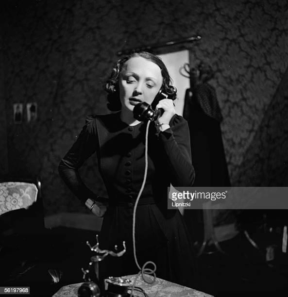 Edith Piaf in Le Bel indifferent of Jean Cocteau Paris theatre of BouffesParisiens april 1940