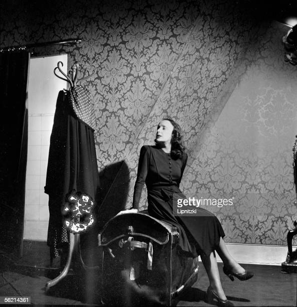 Edith Piaf in 'Le Bel indifferent' of Jean Cocteau Paris theatre of BouffesParisiens april 1940