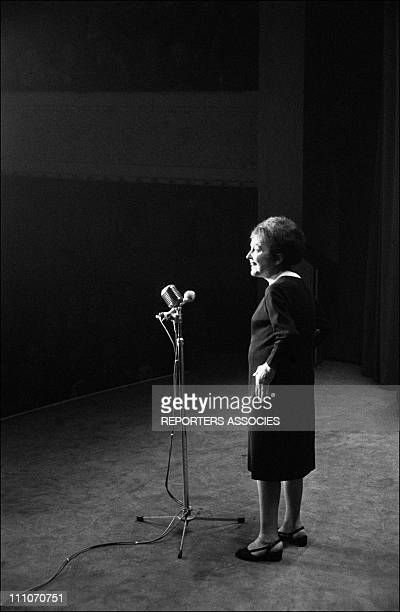 Edith Piaf on stage at the Olympia in Paris France on February 22 1963