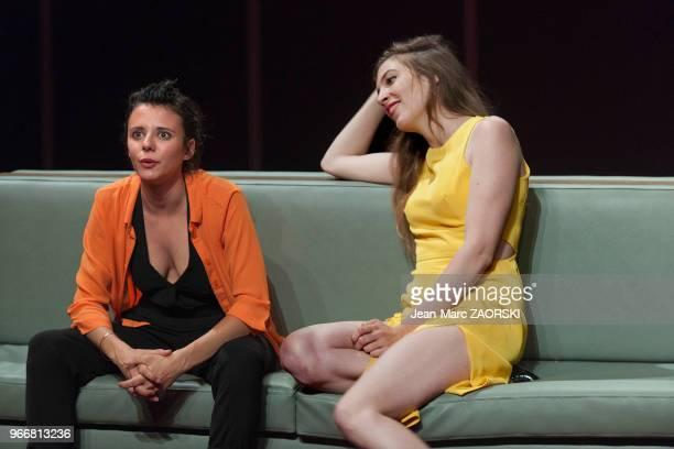 Edith Proust et Hélène Rencurel dans « Trilogie du revoir » une pièce de Botho Strauss mise en scène par Benjamin Porée et présentée en création...