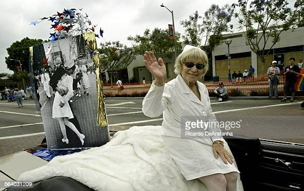 Edith Shain takes part in the Gay Pride Parade 2005 along Santa Monica Blvd. She claims to be the nurse in photograph taken by photographer Alfred...