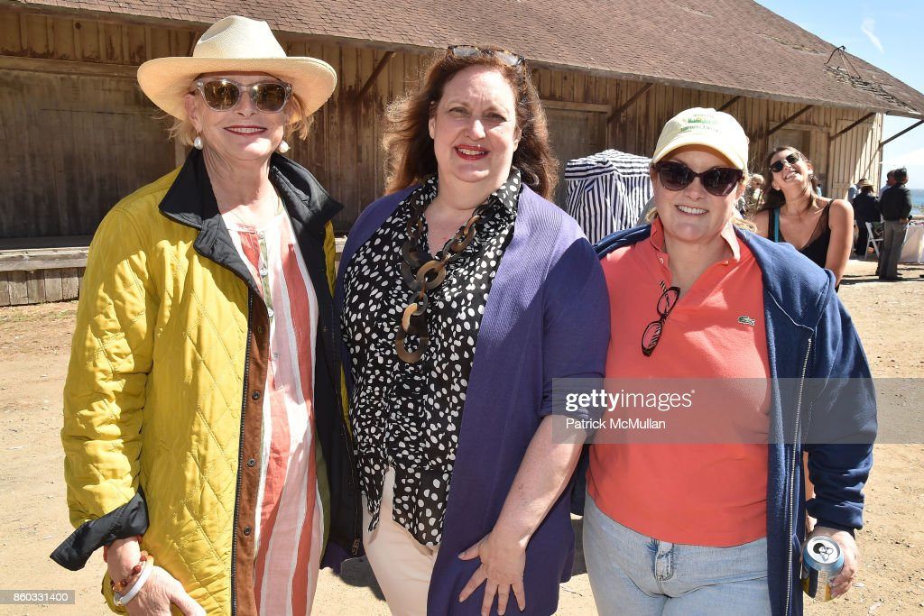 Edith Tobin, Alison Mazzola and Patricia Hearst Shaw attend Hearst Castle Preservation Foundation Annual Benefit Weekend 'Lunch at the Hearst Ranch Wine Warehouse' at Wine Warehouse on September 30, 2017 in San Simeon, CA.
