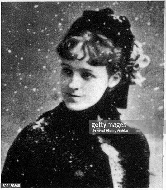 Edith Wharton American Novelist and Short Story Writer Portrait in Snow